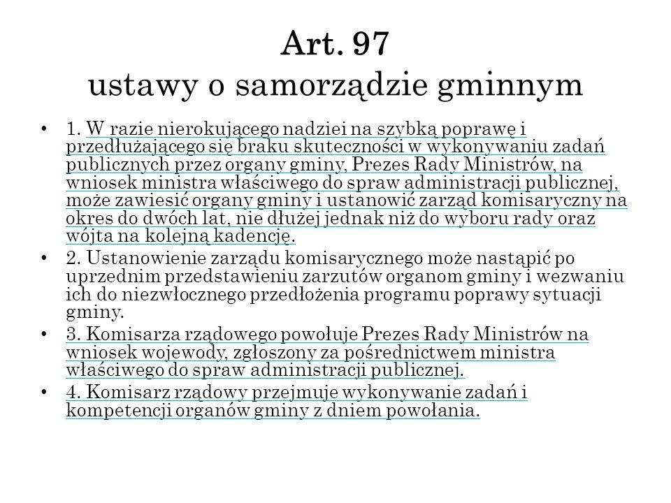 Art. 97 ustawy o samorządzie gminnym