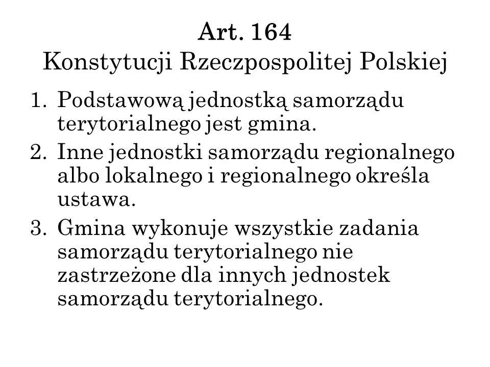 Art. 164 Konstytucji Rzeczpospolitej Polskiej