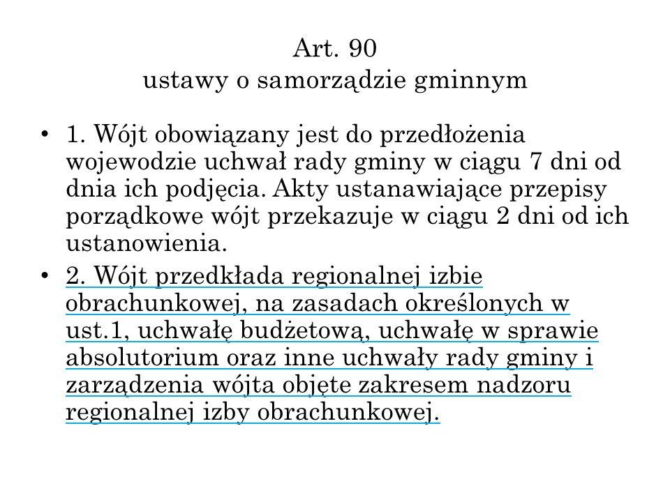 Art. 90 ustawy o samorządzie gminnym