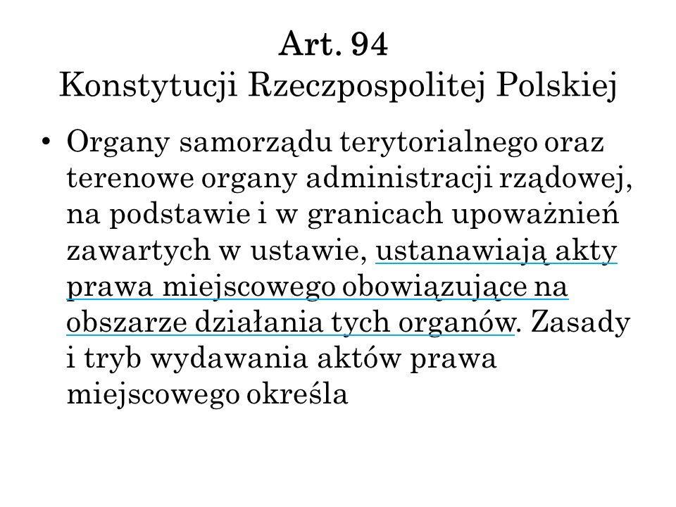 Art. 94 Konstytucji Rzeczpospolitej Polskiej
