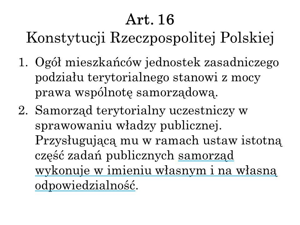 Art. 16 Konstytucji Rzeczpospolitej Polskiej