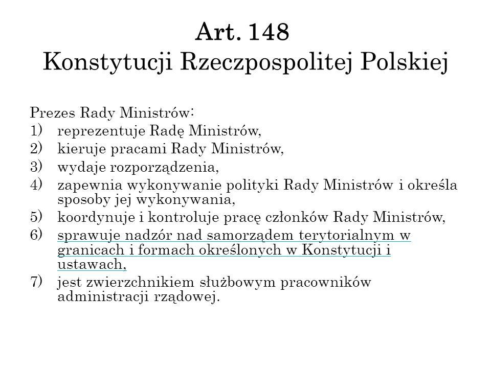 Art. 148 Konstytucji Rzeczpospolitej Polskiej