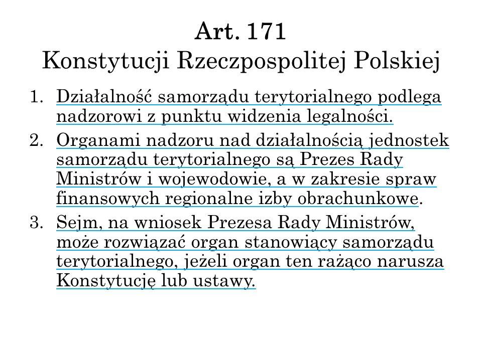 Art. 171 Konstytucji Rzeczpospolitej Polskiej
