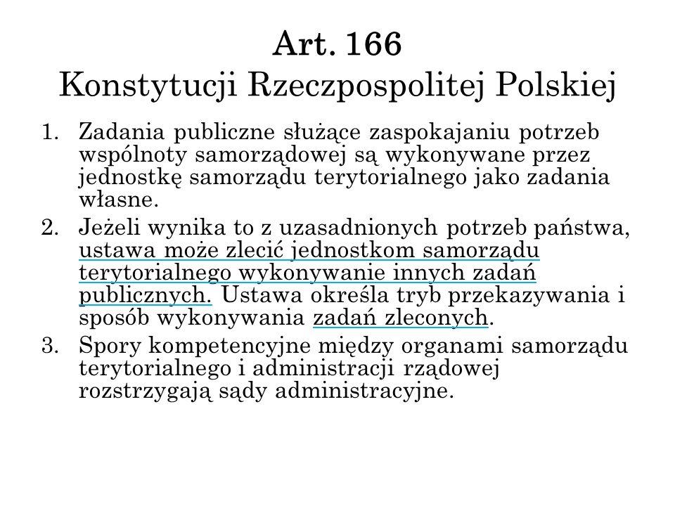 Art. 166 Konstytucji Rzeczpospolitej Polskiej