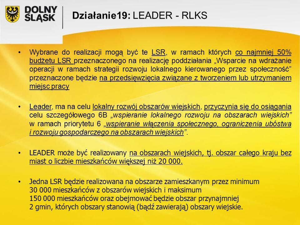Działanie19: LEADER - RLKS