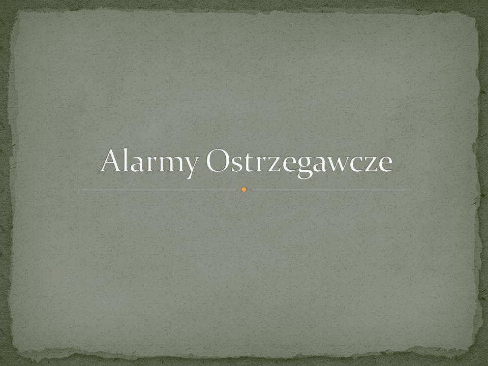 Alarmy Ostrzegawcze
