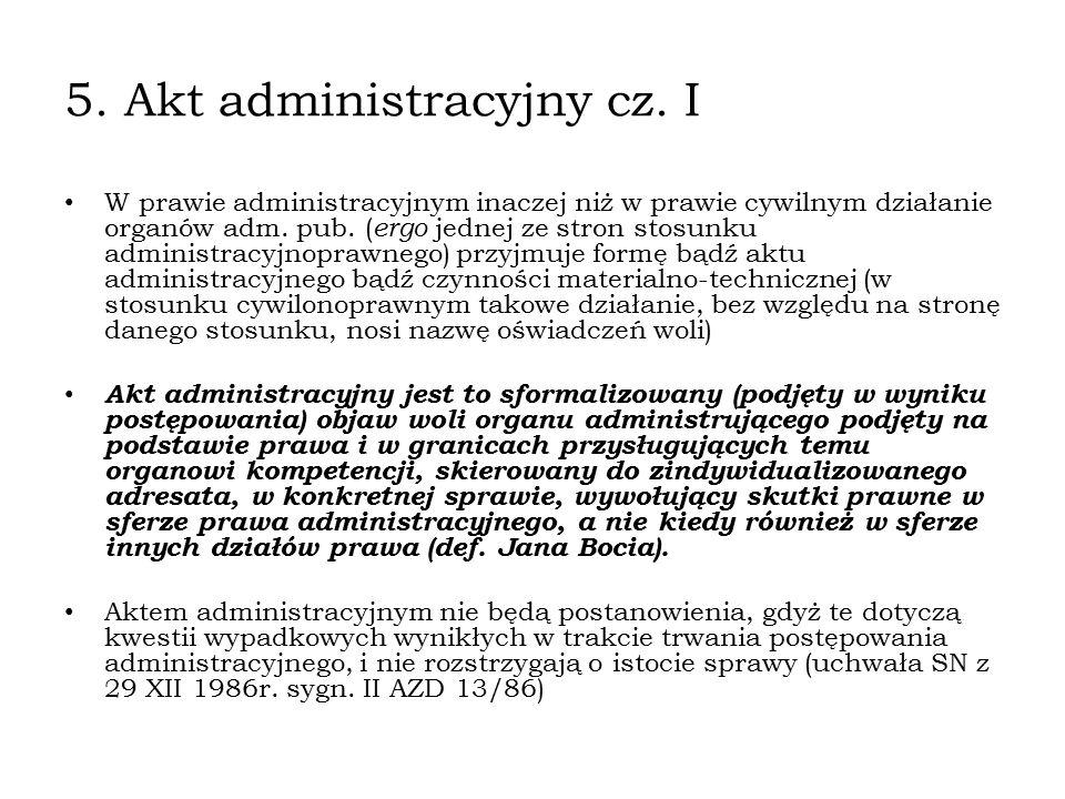 5. Akt administracyjny cz. I