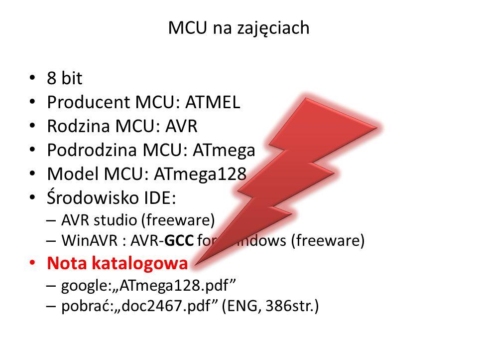 Podrodzina MCU: ATmega Model MCU: ATmega128 Środowisko IDE: