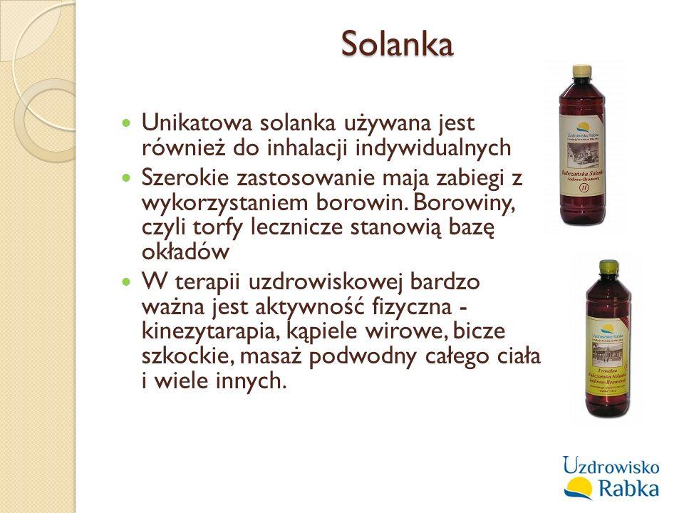 Solanka Unikatowa solanka używana jest również do inhalacji indywidualnych.