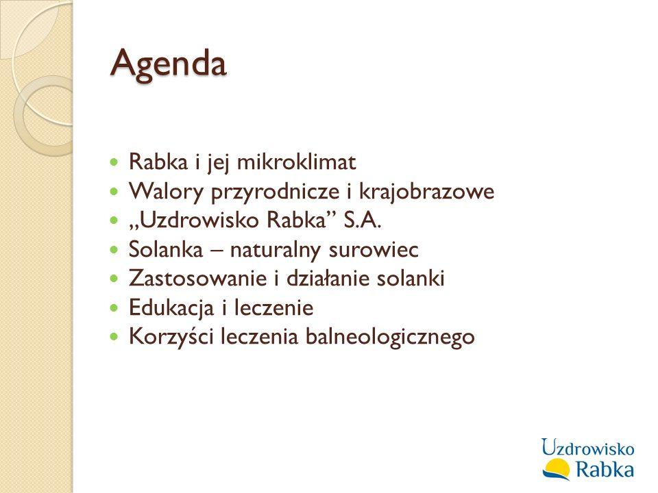 Agenda Rabka i jej mikroklimat Walory przyrodnicze i krajobrazowe