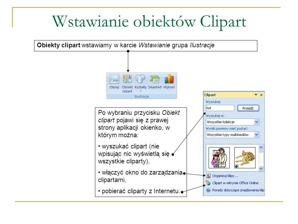 Wstawianie obiektów Clipart