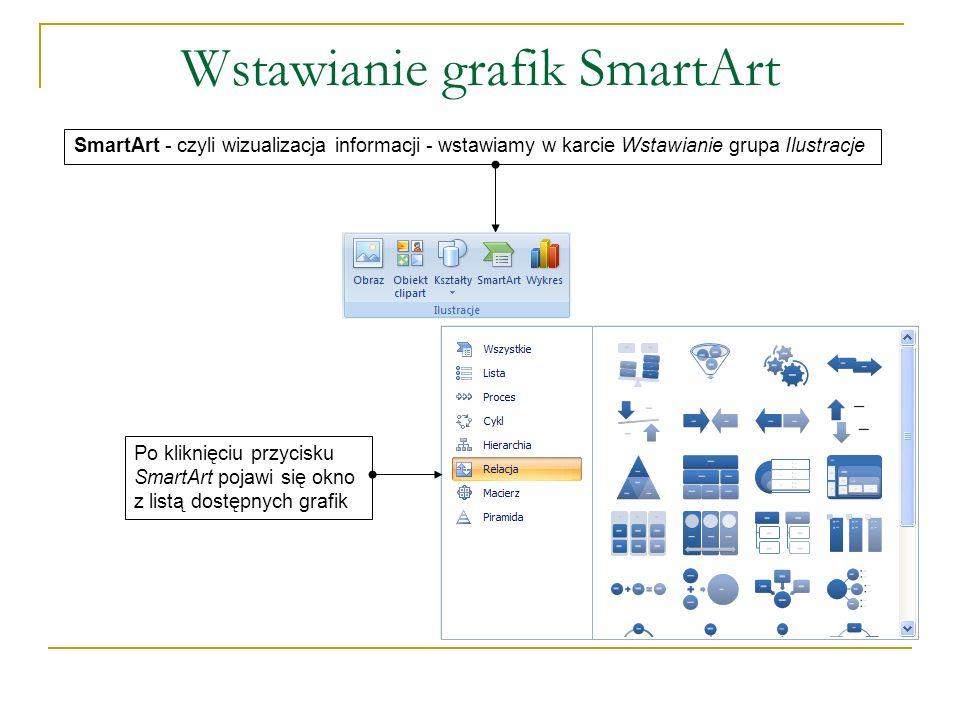 Wstawianie grafik SmartArt