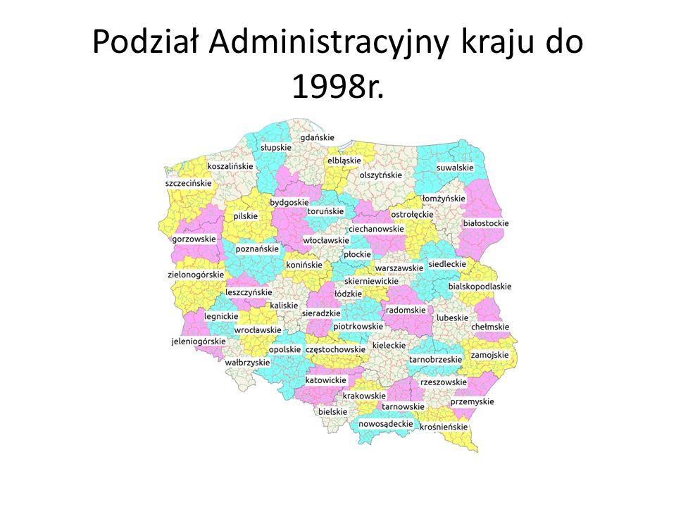 Podział Administracyjny kraju do 1998r.