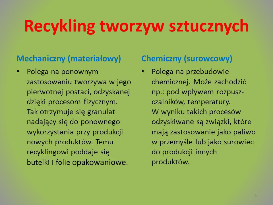 Recykling tworzyw sztucznych