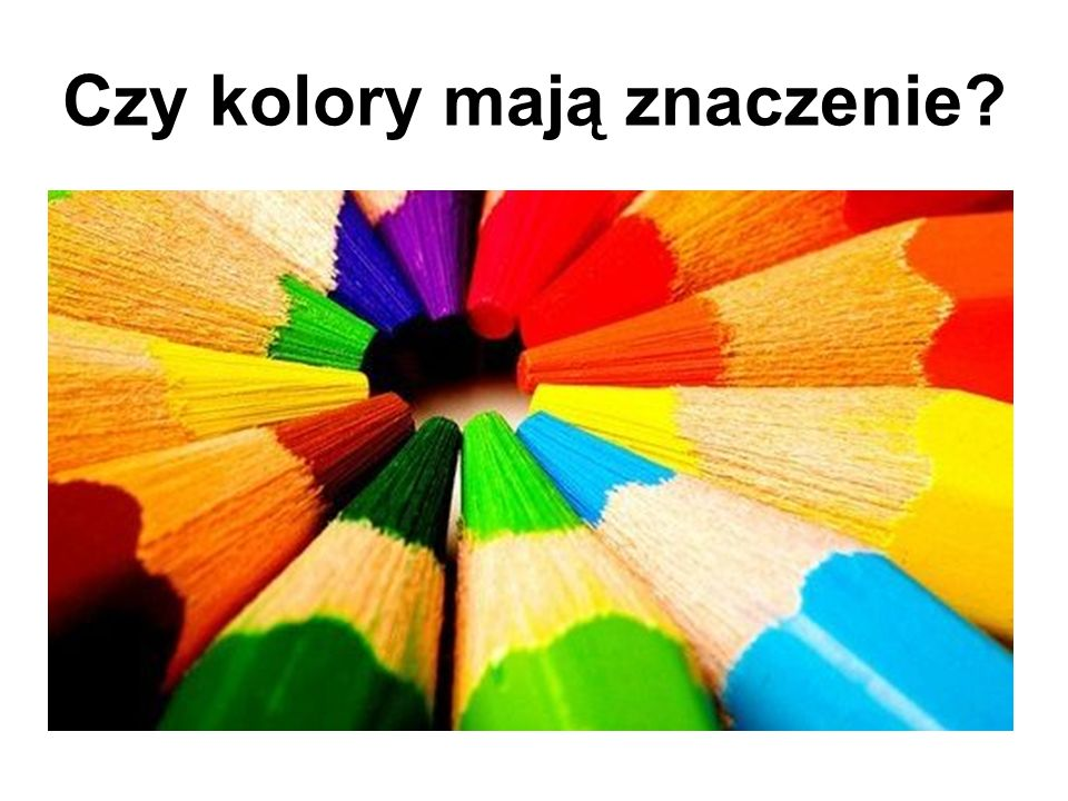 Czy kolory mają znaczenie