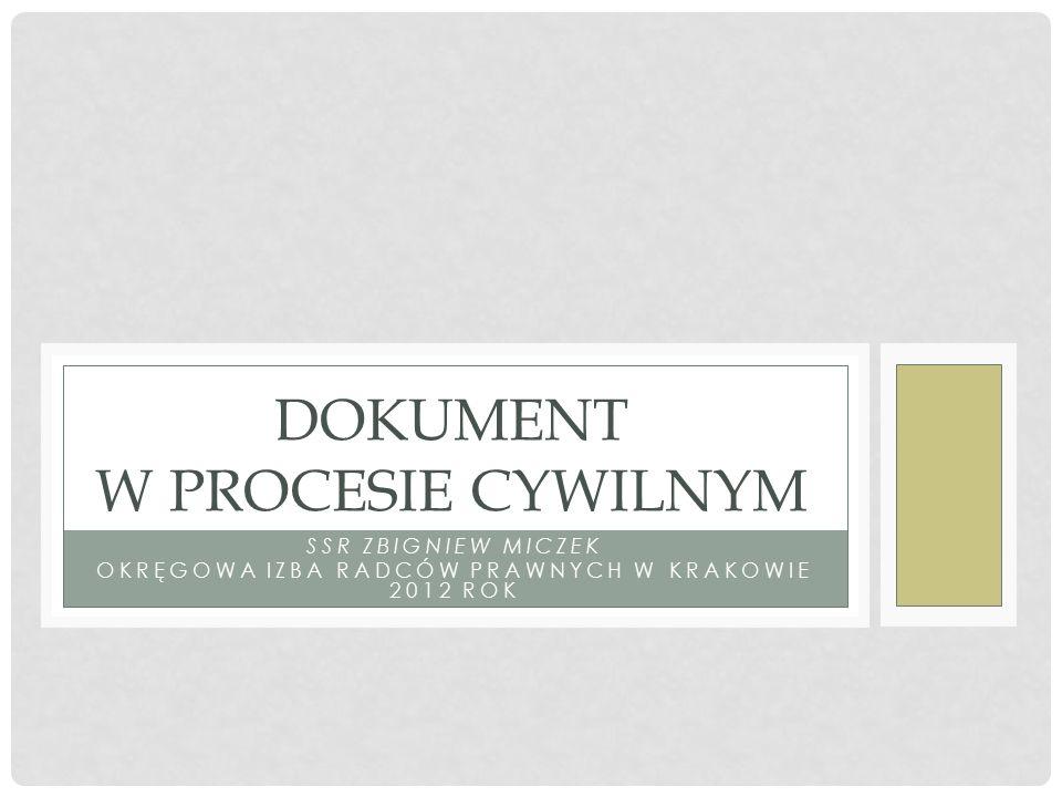 dokument w procesie cywilnym