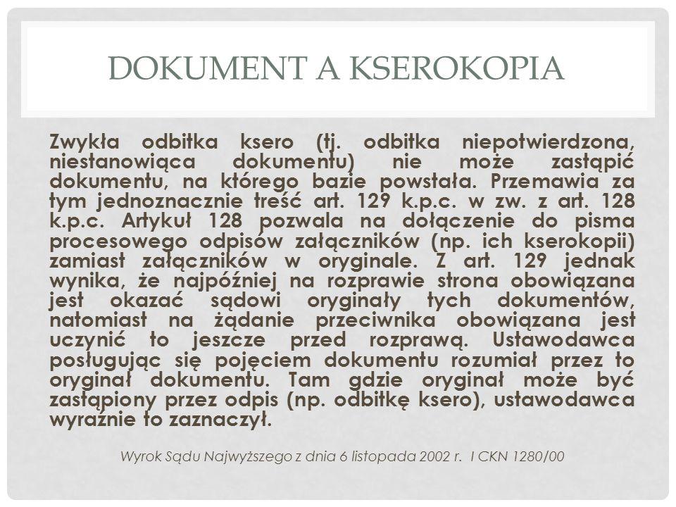 Wyrok Sądu Najwyższego z dnia 6 listopada 2002 r. I CKN 1280/00