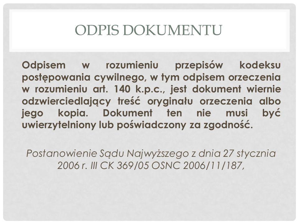 ODPIS DOKUMENTU