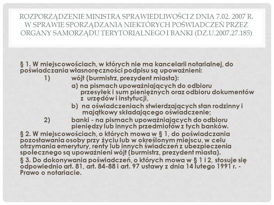 Rozporządzenie MINISTRA SPRAWIEDLIWOŚCI z dnia 7. 02. 2007 R
