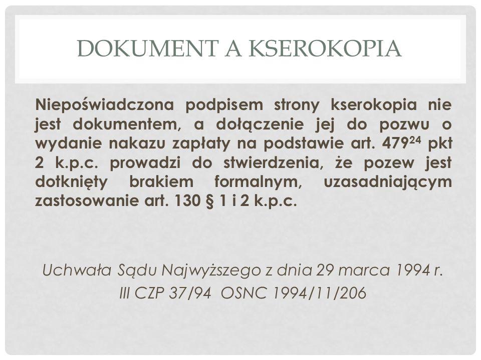Dokument A KSEROKOPIA