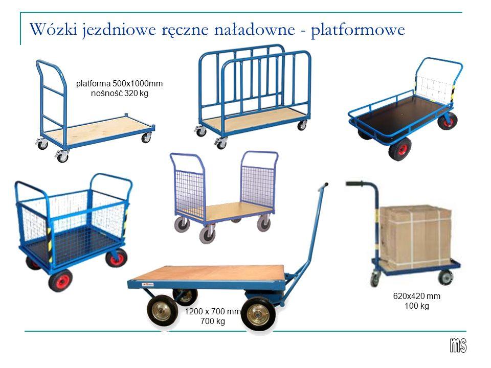 Wózki jezdniowe ręczne naładowne - platformowe