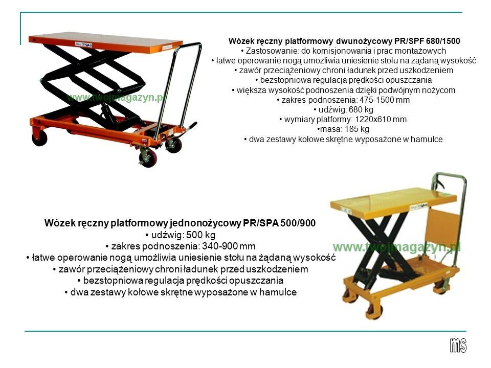 Wózek ręczny platformowy dwunożycowy PR/SPF 680/1500