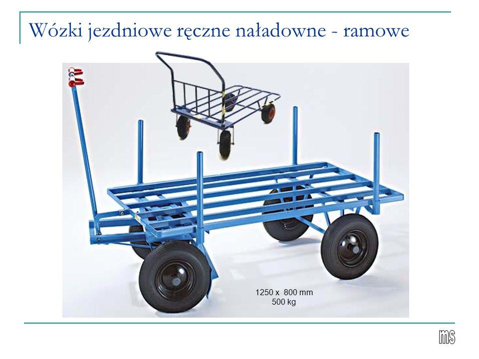 Wózki jezdniowe ręczne naładowne - ramowe