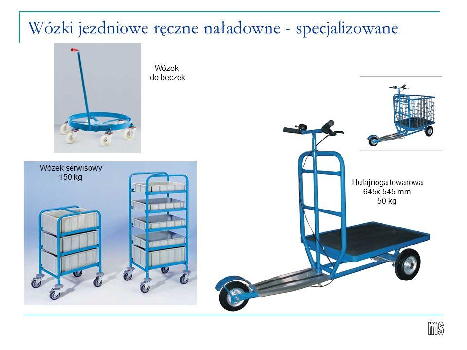 Wózki jezdniowe ręczne naładowne - specjalizowane