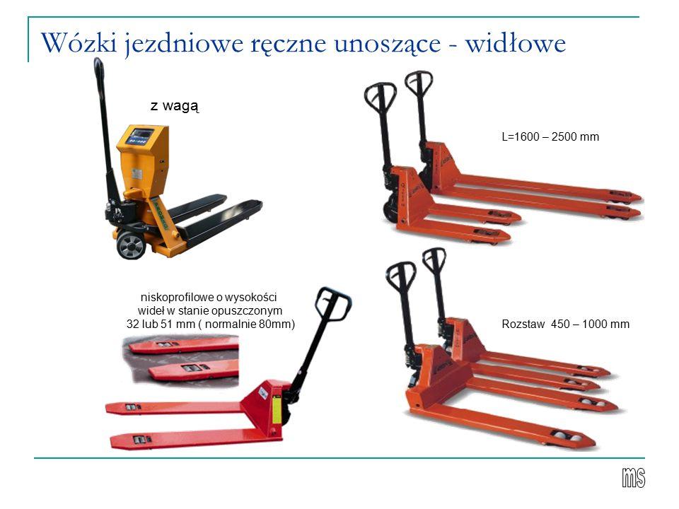 Wózki jezdniowe ręczne unoszące - widłowe
