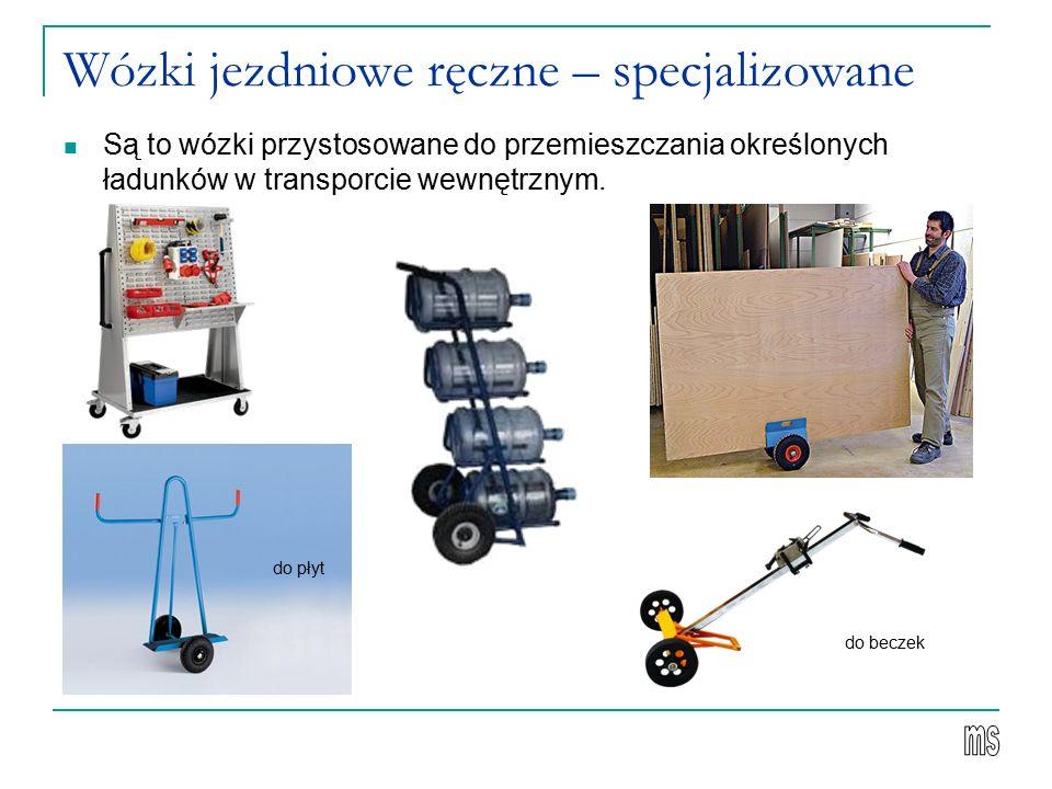 Wózki jezdniowe ręczne – specjalizowane