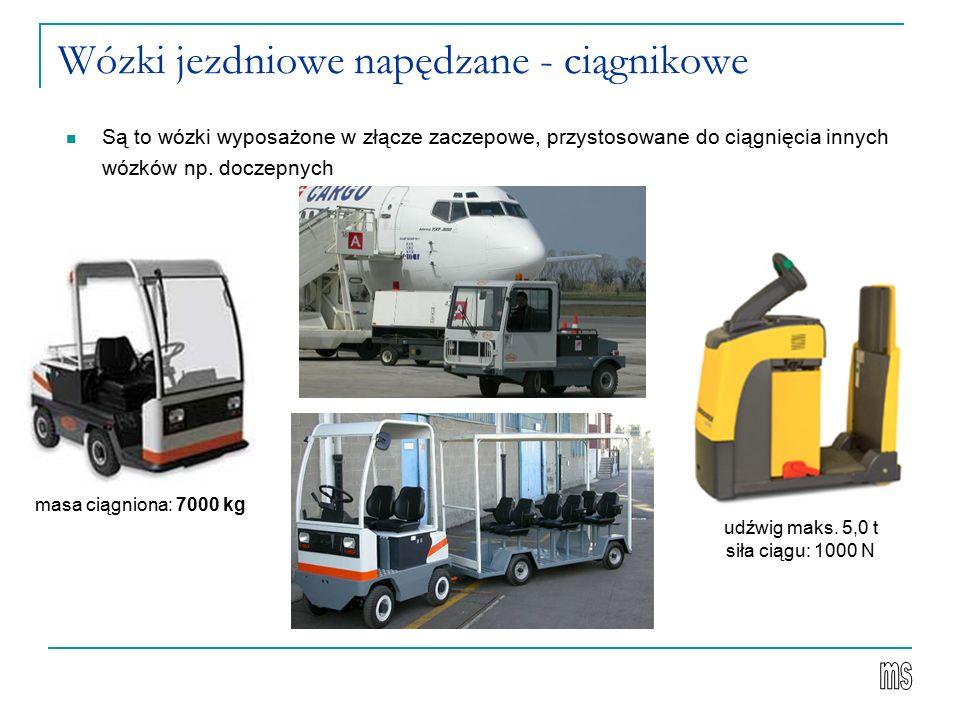 Wózki jezdniowe napędzane - ciągnikowe