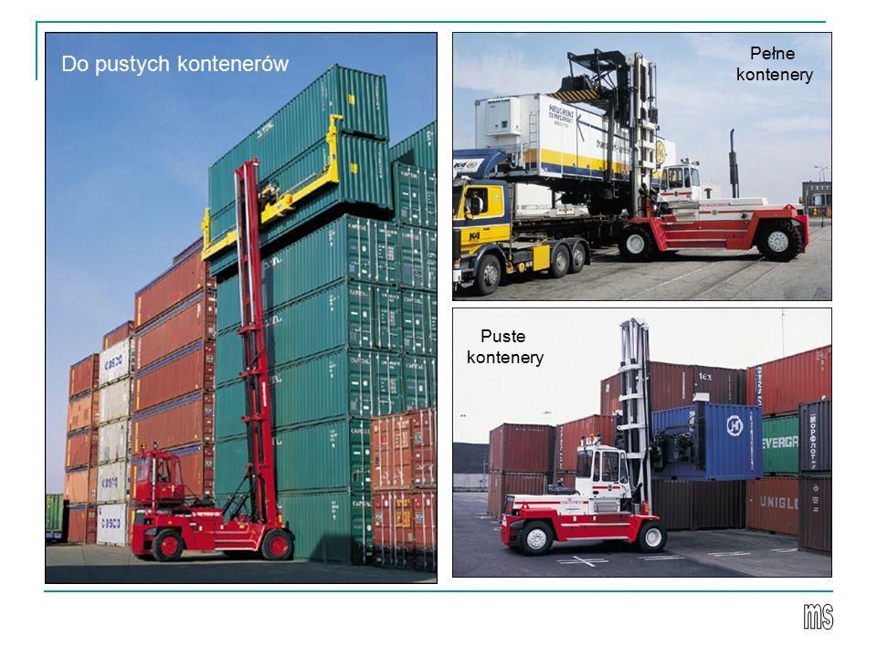 Pełne kontenery Do pustych kontenerów Puste kontenery ms