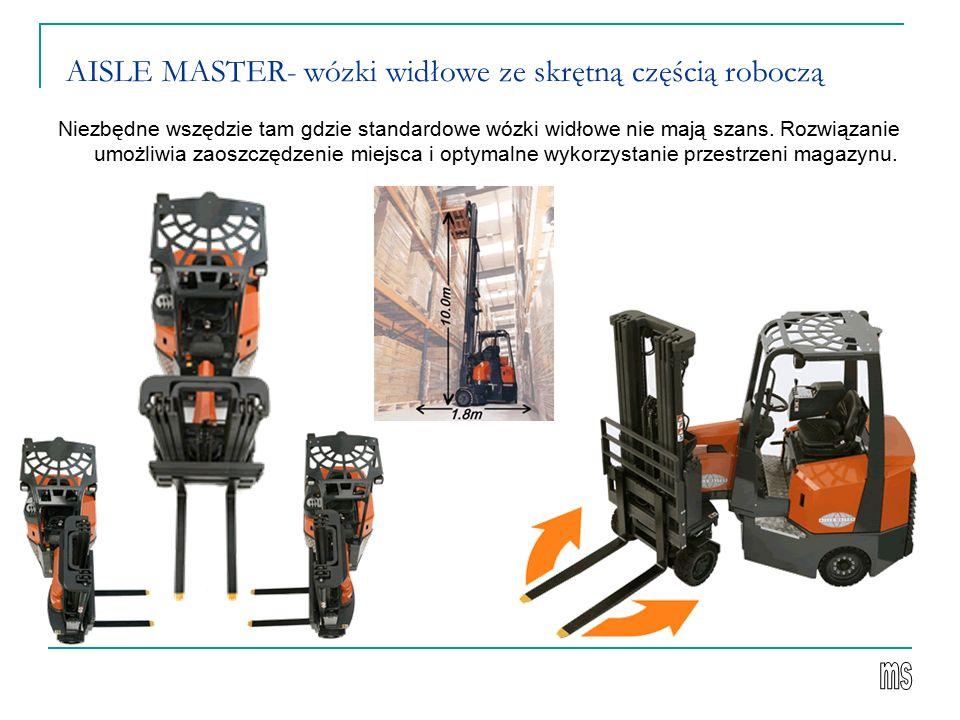 AISLE MASTER- wózki widłowe ze skrętną częścią roboczą
