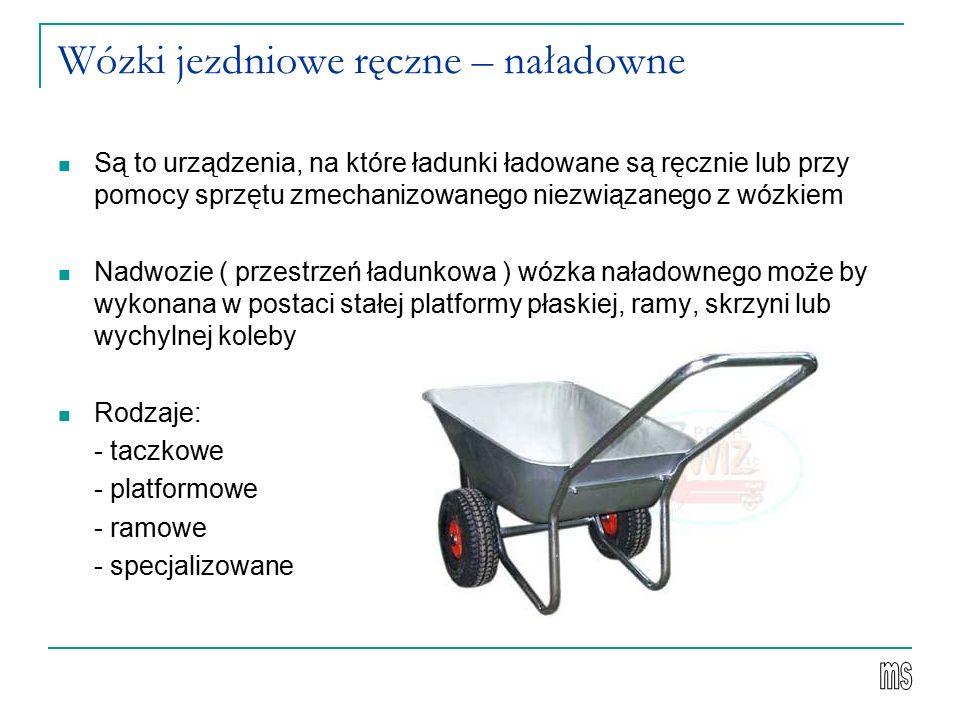 Wózki jezdniowe ręczne – naładowne