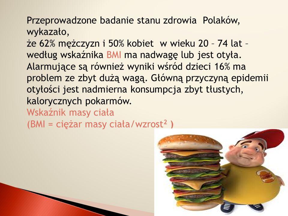Przeprowadzone badanie stanu zdrowia Polaków, wykazało,
