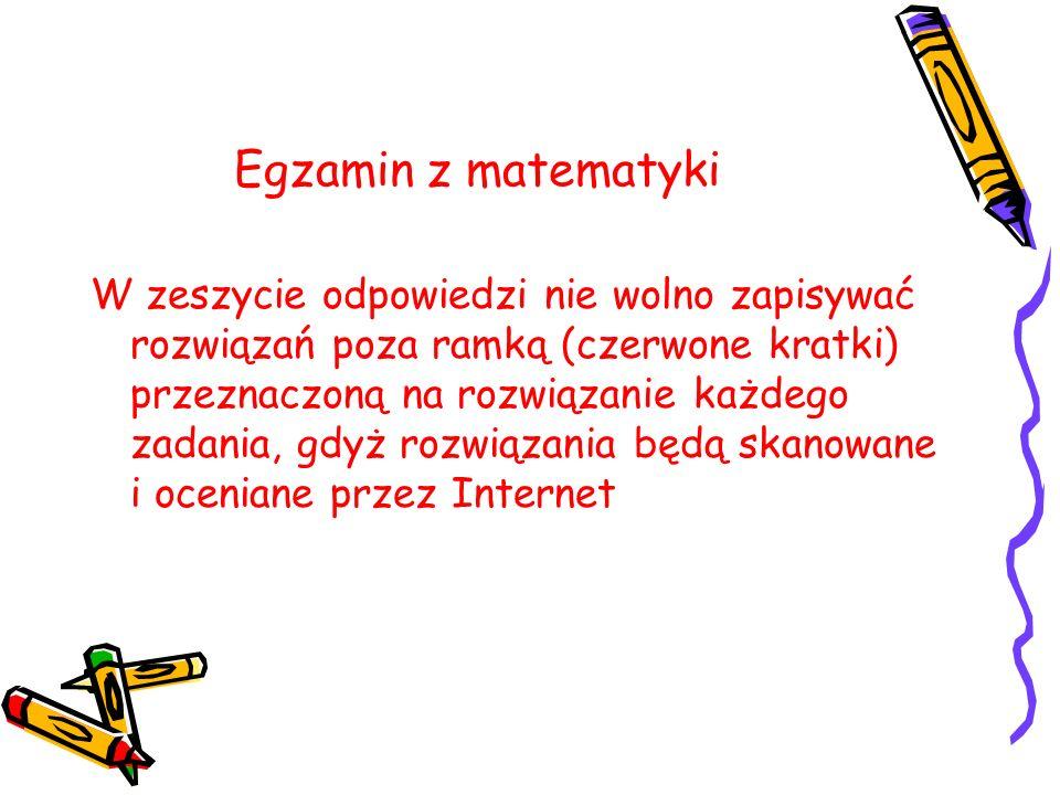Egzamin z matematyki