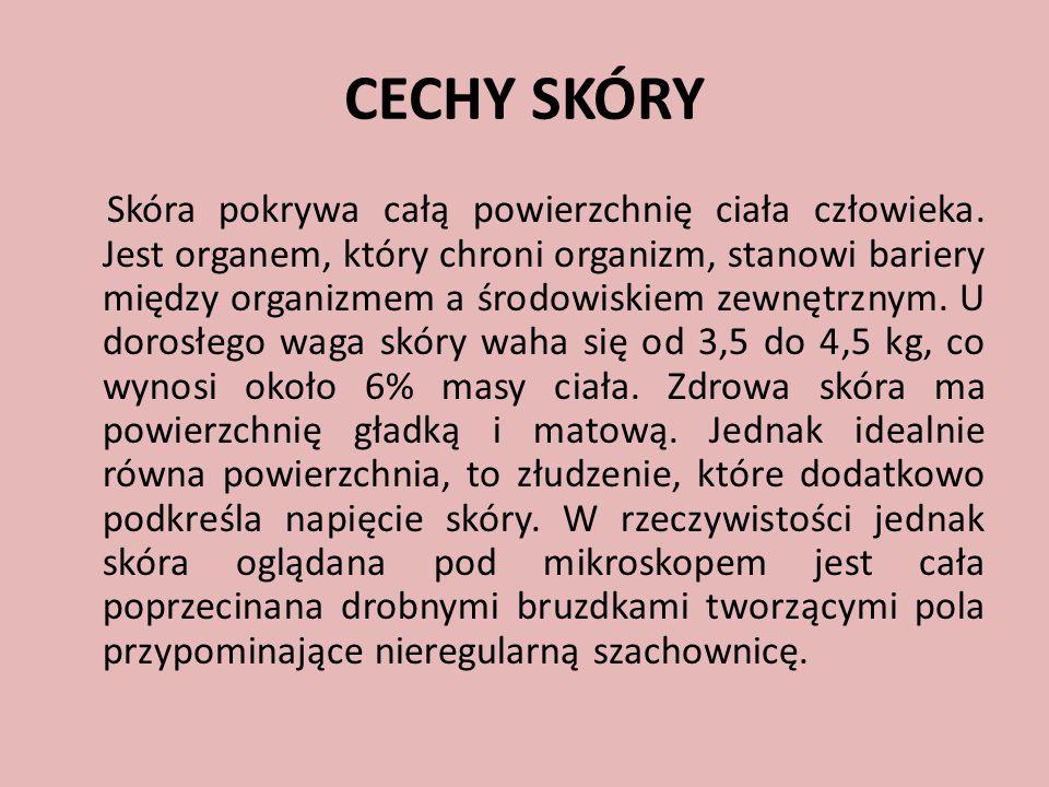 CECHY SKÓRY