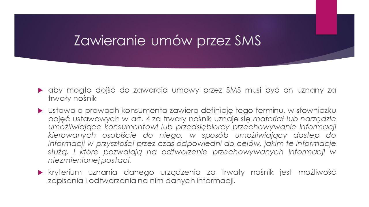 Zawieranie umów przez SMS