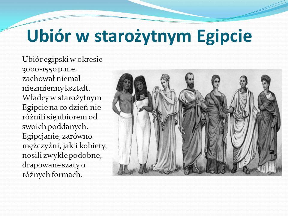Ubiór w starożytnym Egipcie