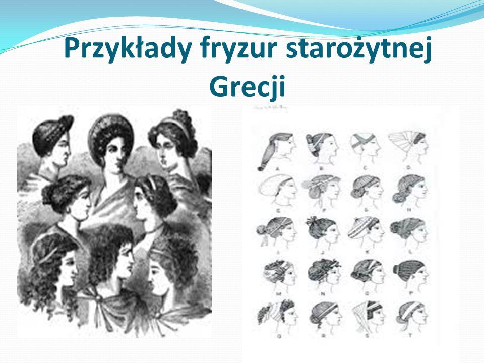 Przykłady fryzur starożytnej Grecji