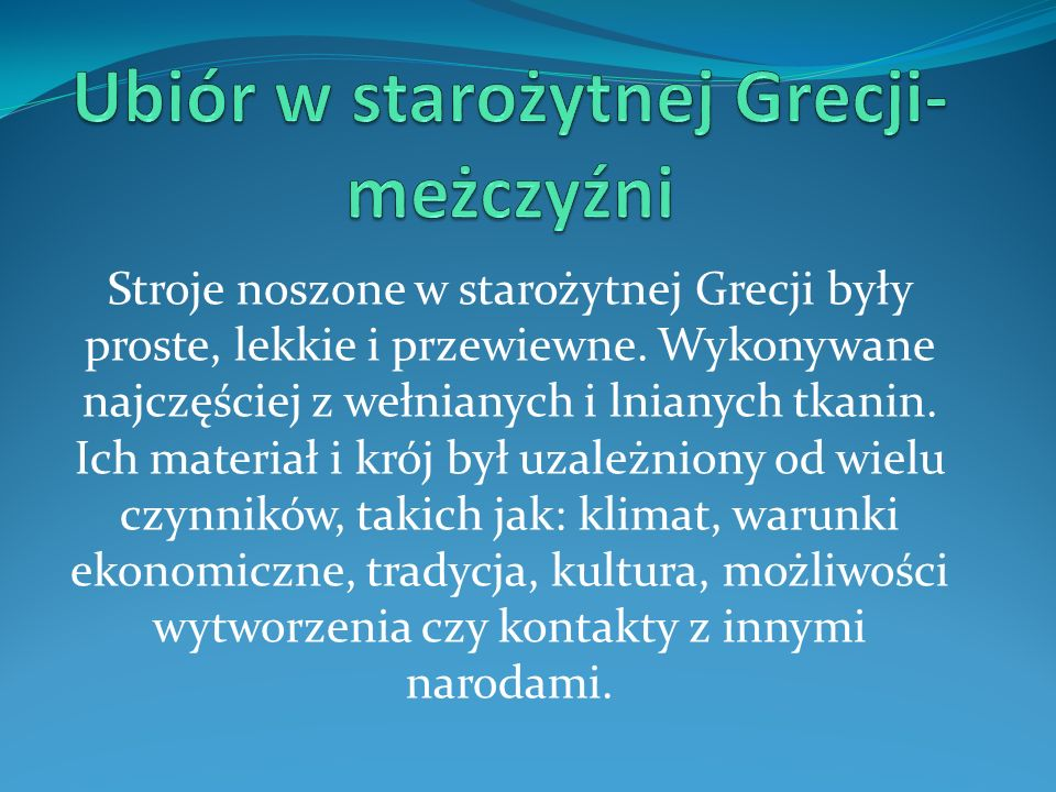 Ubiór w starożytnej Grecji-meżczyźni