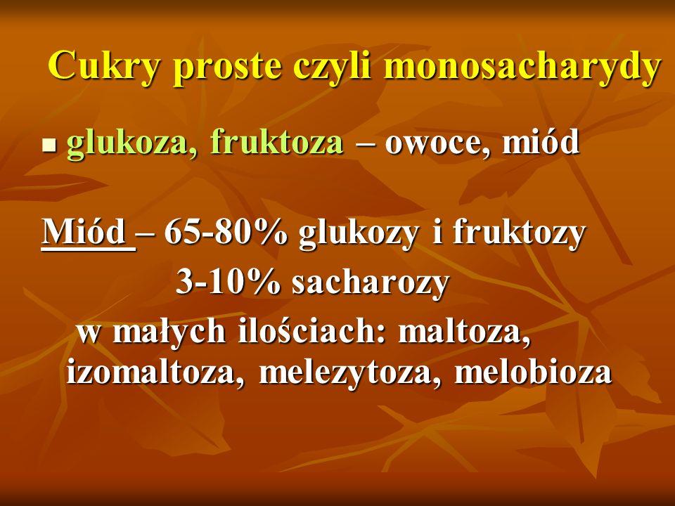Cukry proste czyli monosacharydy