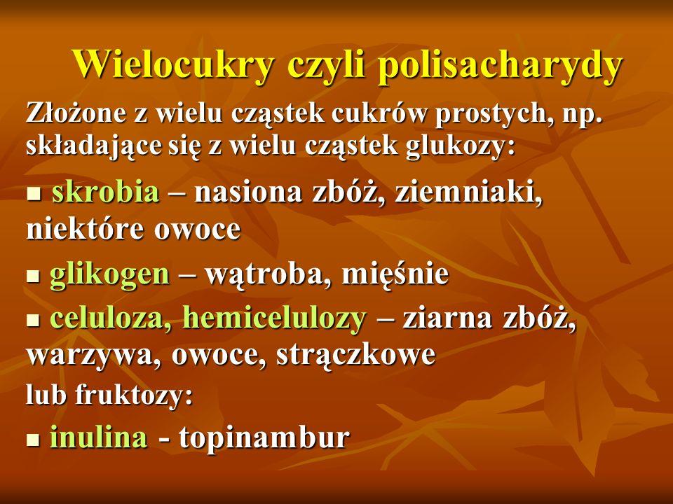Wielocukry czyli polisacharydy