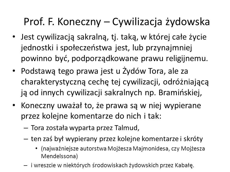 Prof. F. Koneczny – Cywilizacja żydowska