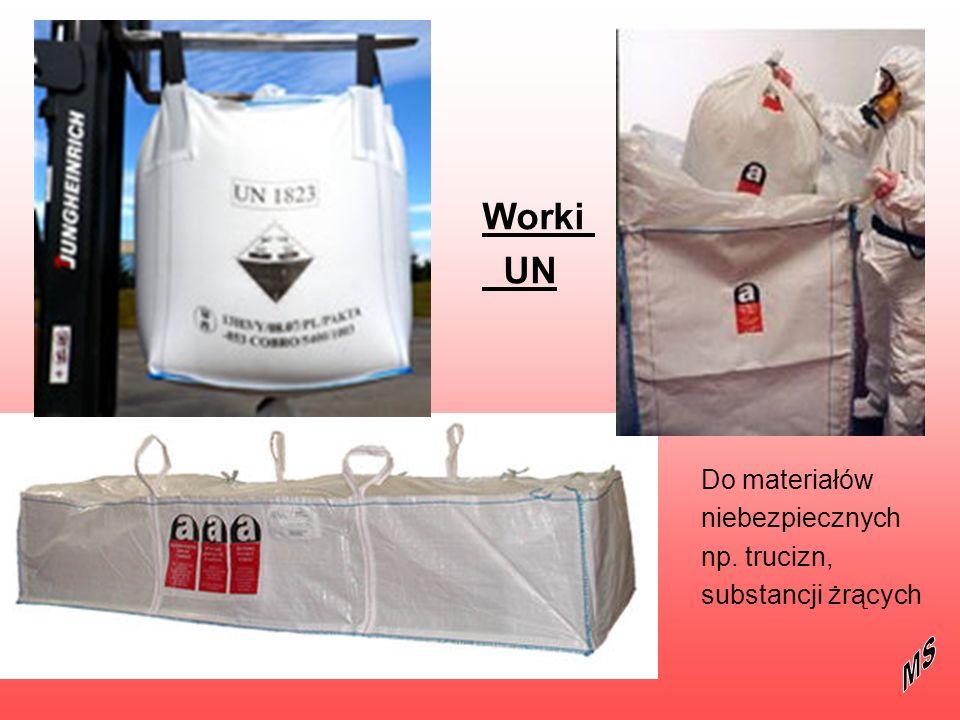Worki UN Do materiałów niebezpiecznych np. trucizn, substancji żrących