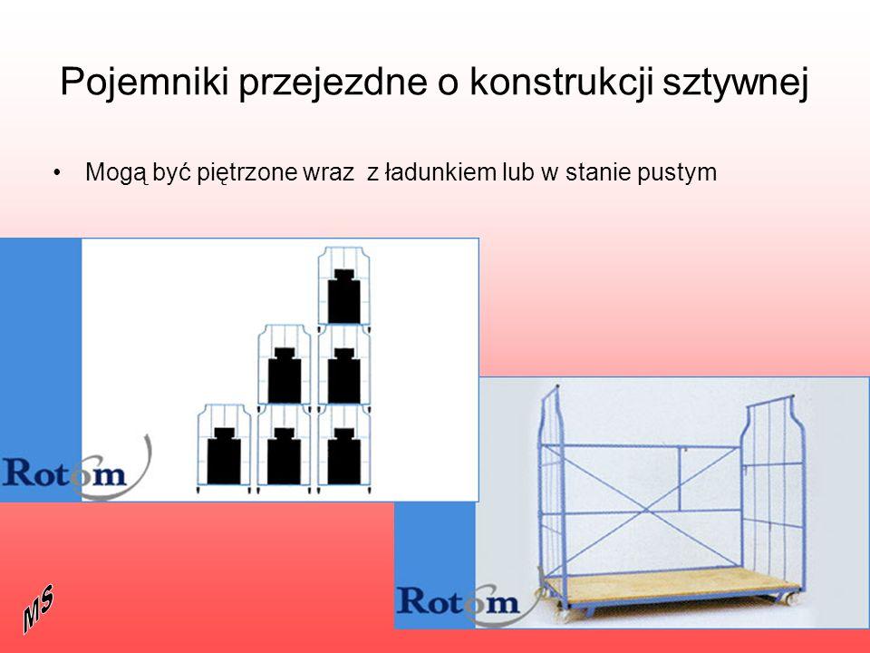 Pojemniki przejezdne o konstrukcji sztywnej