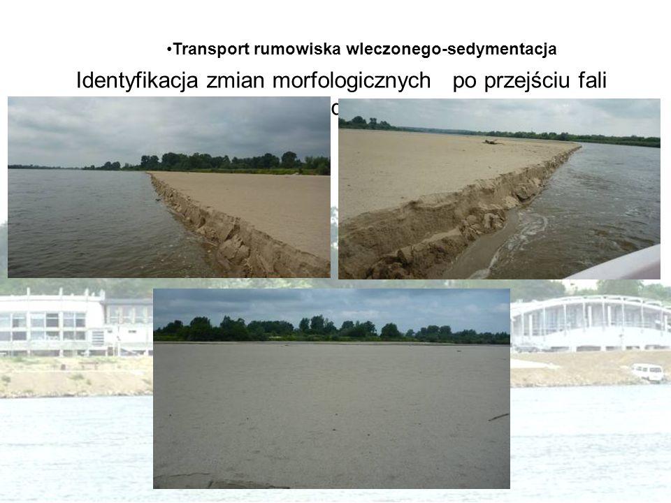 Identyfikacja zmian morfologicznych po przejściu fali powodziowej