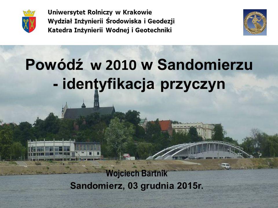 Powódź w 2010 w Sandomierzu - identyfikacja przyczyn