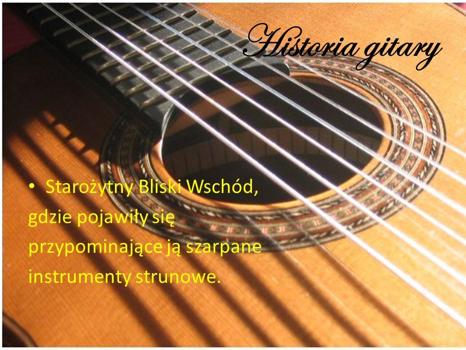Historia gitary Starożytny Bliski Wschód, gdzie pojawiły się