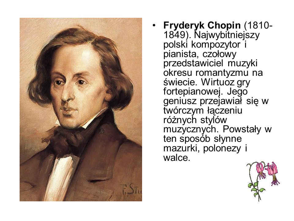 Fryderyk Chopin (1810-1849).